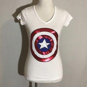 Marvel Captain America v-neck t-shirt